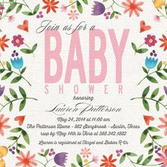nice Wedding Invitations 2017 / 2018Linen Blossoms - Baby Shower Invitations in Bloom | Bonnie Marcus Check more at https://speeddating.tn/wedding-invitations-2017-2018linen-blossoms-baby-shower-invitations-in-bloom-bonnie-marcus/