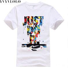 2016 New Fashion Brand T-shirt Just  Do It  Global sales Print T Shirt Men Summer Tops Tees hip hop Anime Male Tshirt