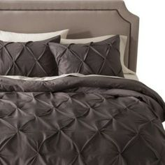 Threshold Pinched Pleat Duvet Cover Set, Gray               Love everything about this idea!