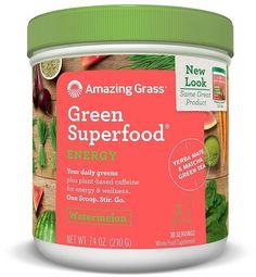 Amazing Grass Green Superfood Power Energy Watermelon, 30 Servings, 7.4 Ounces #AmazingGrass