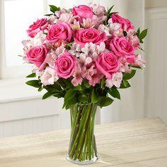 Букет с розами и альстромерией. — База цветов Alex Flowers