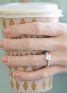 Love the simple elegance of this gorgeous diamond engagement ring.