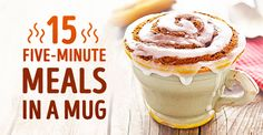 15 delicious and healthy meals you can make in a mug Mug Recipes, Cake Recipes, Cooking Recipes, Healthy Recipes, Healthy Meals, Microwave Recipes, Easy Cooking, Delicious Desserts, Yummy Food
