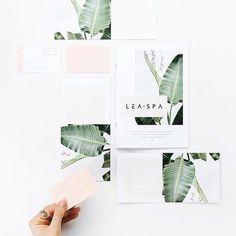 Ideas Palm Tree Graphic Design Wedding Invitations For 2019 Spa Design, Print Design, Spa Business Cards, Business Card Design, Spa Branding, Branding Design, Menu Design, Logo Design, Corporate Design