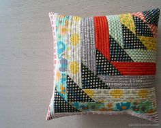 Scrappy North West QAYG Cushion (includes link to tutorial)