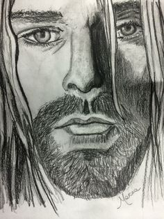 Kurt Cobain drawn by me
