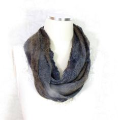 Cobweb Felted Scarf, Handmade Wool Winter Scarf, Taupe Brown Gray,... ($49) ❤ liked on Polyvore featuring men's fashion, men's accessories, men's scarves, mens long scarves, mens wool scarves, mens scarves and mens woolen scarves