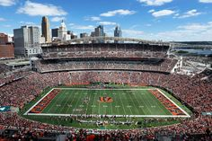 Cincinnati Back in 2000, Paul Brown Stadium became the new home of the Cincinnati Bengals. Created by NBBJ, the venue can hold up to 65,515 spectators.