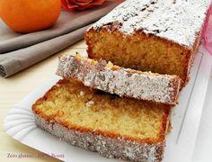 Plumcake soffice all'arancia senza glutine e senza burro