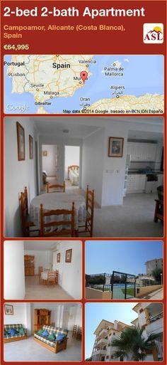 2-bed 2-bath Apartment in Campoamor, Alicante (Costa Blanca), Spain ►€64,995 #PropertyForSaleInSpain