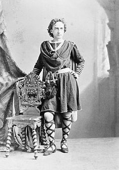 Actor Edwin Booth (picture looking fly as Hamlet) brother of...