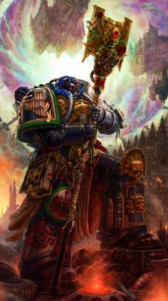 Warhammer 40k, Space Marines Librarian of the Deathwatch