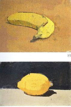 Euan Uglow Drawing Tips draw names Figure Painting, Painting & Drawing, Watercolor Paintings, Drawing Tips, Painting Still Life, Still Life Art, Fruit Painting, A Level Art, Art Abstrait