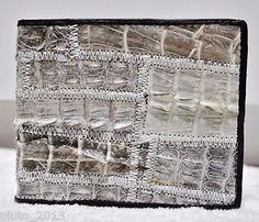 Genuine Alligator Crocodile Lateral Skin Leather Billfold Men Wallet White Brown | eBay