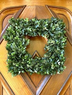 Realistic English Boxwood square wreath is perfect for spring!   http://www.balsamhill.com/English-Boxwood-by-Balsam-Hill-p/box-w.htm