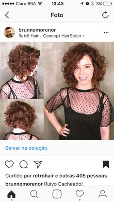 Perfect curly haircut