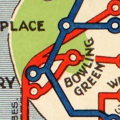 Map of NYC subway routes (1924) transit
