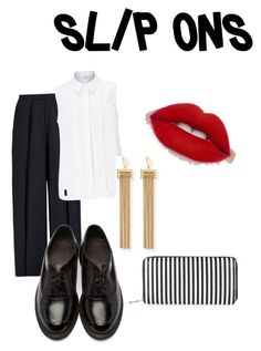 """""""Untitled #4"""" by courtney-king-iii ❤ liked on Polyvore featuring Iris & Ink, Dr. Martens, John Lewis, Chloé, New Look, men's fashion, menswear and slipons"""