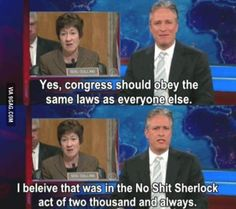 Jon Stewart on Congress.