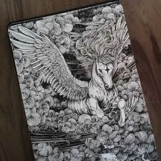 Creative artist Kerby Rosanes an illustrator based in Manila Philippines. Kerby Rosanes uses ink primarily in their drawings. For more drawings ? Pencil Art Drawings, Art Sketches, Ink Illustrations, Illustration Art, Crayons Pastel, Dibujos Zentangle Art, Arte Alien, Pen Art, Wildlife Art