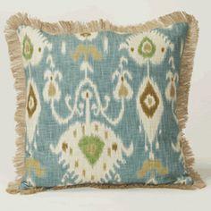 Clayton Gray Home's blue ikat pillow