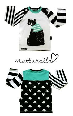 Nallepainatus Sewing Kids Clothes, Sewing For Kids, Boys Wear, Sewing Patterns, Kids Fashion, T Shirts, Chic, How To Wear, Inspiration