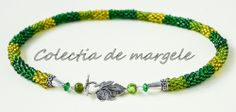 Secret garden - corchet beading necklace www.colectiademargele.ro Beading, Beaded Bracelets, Crochet, Garden, Collection, Jewelry, Fashion, O Beads, Jewellery Making