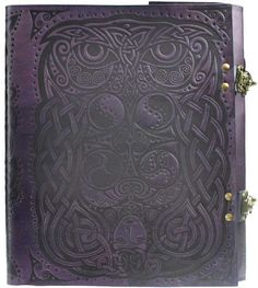 Owl Leather Blank Book w/Latch