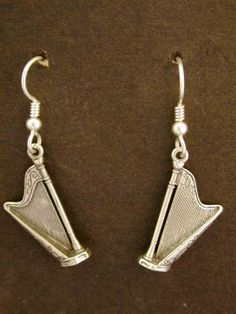 Sterling Silver Harp Earrings on Heavy Sterling by peteconder, $40.00