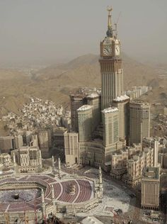 The absolute massive Abraj Al-Bait Towers, also known as the Mecca Royal Hotel Clock Tower, is a building complex in Mecca, Saudi Arabia. The clock tower is the third tallest freestanding structure in the world!