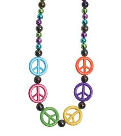 Fun Peace Sign Necklace DIY perfect for celebrating Martin Luther King, Jr. Day
