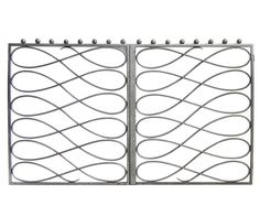 Reminding me of the infinity symbol, this romantic Pair of French Art Deco Wrought Iron Gates from 1stdibs looks sleek and everlasting.