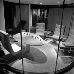 The future office was a particularly intriguing concept, since it was widely assumed that (thanks to automation) most people would no longer have to work by the 21st century. Therefore, the futuristic office was often populated by one lonely man who spent his day pushing buttons and observing screens full of information.