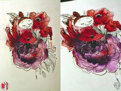 Redberry Tattoo Studio Wrocław #tattoo #inked #ink #studio #wroclaw #warszawa #tatuaz #dresden #redberry #katowice #amazingtattoo #dzolama #redberrytattoostudio #amaizingtattoo #poland #berlin #sketch #delicate #kwiaty #flowers #aquarel #malami #mi #moomins #muminki