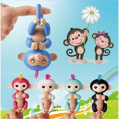 Fingerlings - Interactive Finger Baby Monkeys 6-Color Smart Toy Finger Monkeys
