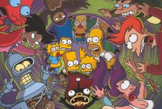 """11.09.2014 Andy Swift The Planet Express crew from the 31st century is scheduled to touch down in present-day Springfield in the Fox comedy's Nov. 9 episode, titled """"Simpsorama."""" Rage-robot Bender..."""
