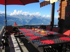 Views from Chalet Lisa's terrace in the summer time.  Wonderful al fresco dining.