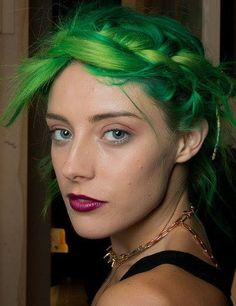 Chloe Norgaard's evolving rainbow hair