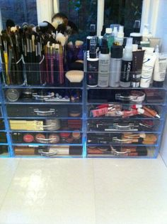 #Clear Cube #Makeup #Storage