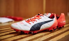 6371c9247b96 The new white   orange Puma evoPOWER 2015 Soccer Cleats introduce a fresh  design for the