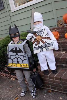 Homemade Halloween Costumes. Lego Batman & Lego Ninjago #lego #ninja #ninjago #batman #costume #halloween