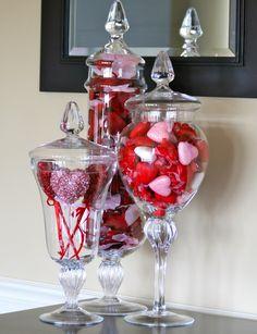 Valentine's Day Apothecary Jars