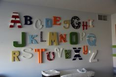 alphabet wall   http://www.houzz.com/photos/304618/Baby-Jack-s-Alphabet-Wall--kids-minneapolis