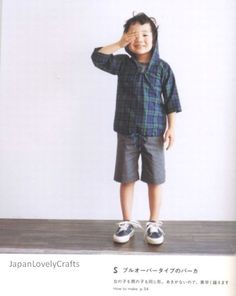 Japanese pattern book pattern.  Love the hoodie and shorts!