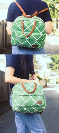 Backpack, Cross Bag, Handbag, ALL in one Billie Backpack PDF Pattern - ithinksew.com #ithinksew