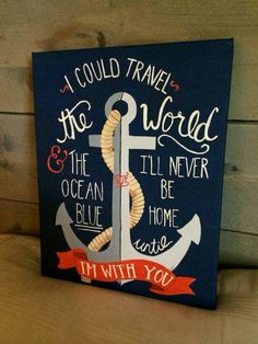 Love Anchors The Soul Nautical Anchor Sign Personalized