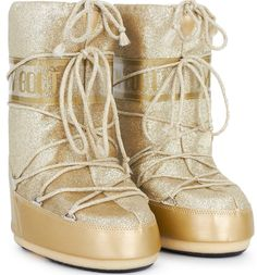 Moon Boot Gold Glitter Delux Moon Boots
