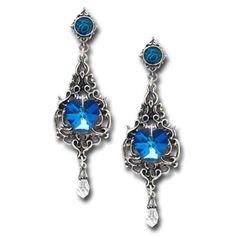 Alchemy Gothic Empress Eugenie Earrings - Pair
