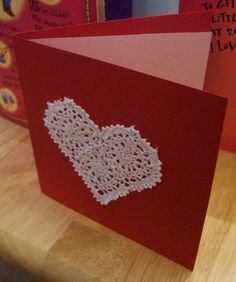 crochet valentine card