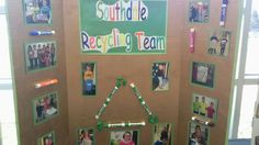Student leadership recycling team display... Check out use of recycled markers